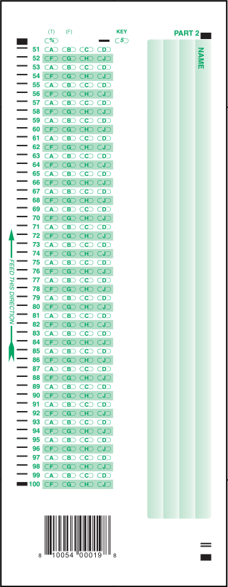 photograph about Free Printable Scantron Bubble Sheet named 850-E 100 Surprise Solution Sheet