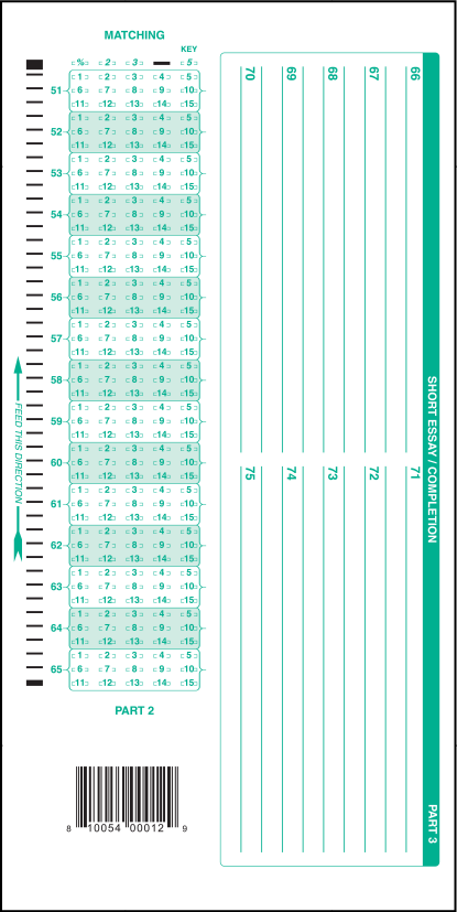 graphic relating to Scantron Sheet Printable referred to as 883-E 50 Marvel Remedy Sheet