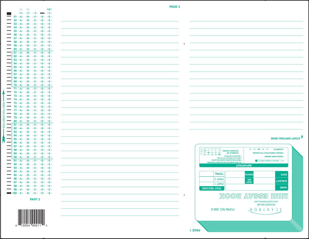 886 e 100 question mini essay book