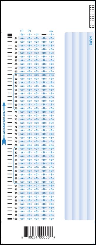 SC882-E 100 Question Answer Sheet